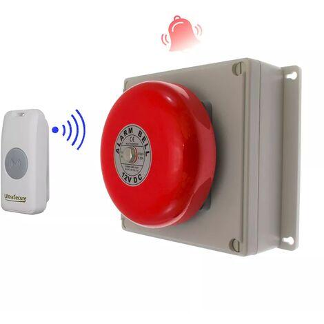 Sonnette cloche industrielle sans-fil 800 mètres longue distance - bouton autonome résistant IP56 (PROTECT 800)