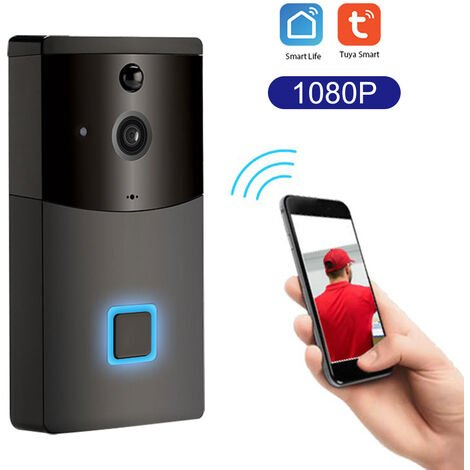 Sonnette d'interphone video WiFi intelligent afaible consommation Tuya 1080P