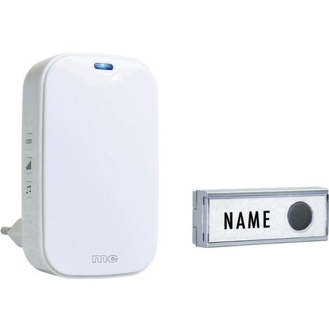 Sonnette sans fil m-e modern-electronics BG-1 41154 Set complet avec porte-nom 1 pc(s)