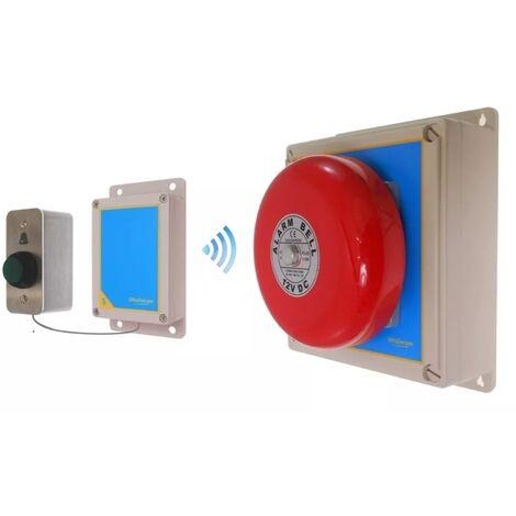 Sonnette sans-fil spéciale entrepôt 900m longue distance haute résistance avec boîtier cloche industrielle (gamme FX)