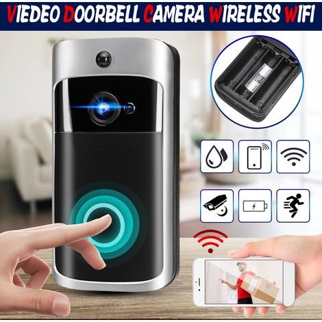 Sonnette WiFi Video Doorbell 720P Caméra HD Vidéo Real-Time Audio bidirectionnel App Motion Pour iOS/ Android/ iPad