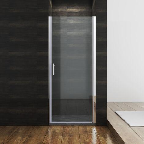SONNI Duschkabine 70 x 185 cm Duschtür Pendeltür Duschabtrennung, NANO Glas