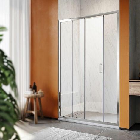 SONNI Duschkabine Duschtüren 100x185cm Duschschiebetür Dusche Nischentür Einzelschiebetür Glasschiebetür ESG Glastür