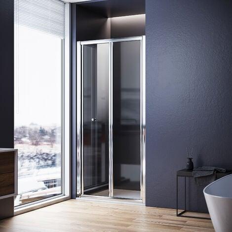 SONNI Falttür Duschkabine Duschtür Duschwand faltbar 100x185cm