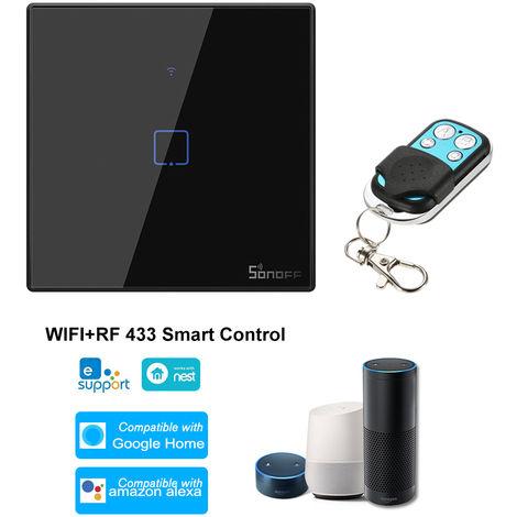 SONOFF, 1 interruptor de la cuadrilla de Smart Wi-Fi de pared de luz, 433Mhz