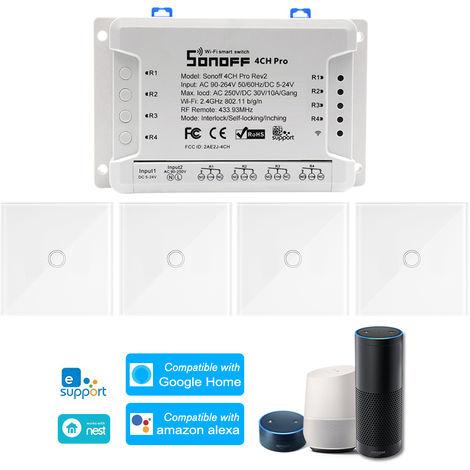 SONOFF, conmutador de 4 canales Pro R2 ITEAD RF 433MHz 4 Gang, WiFi