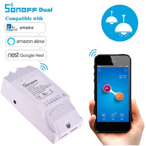 Sonoff doble R2, Wi-Fi inalambrica Smart Switch, 2 Alturas, Domotica Wifi mando a distancia