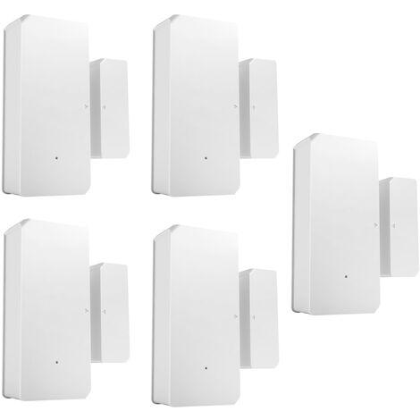 Sonoff Dw2-Rf-433Mhz Capteur D'Alarme De La Porte De Capteurs Sans Fil, 5 Pieces
