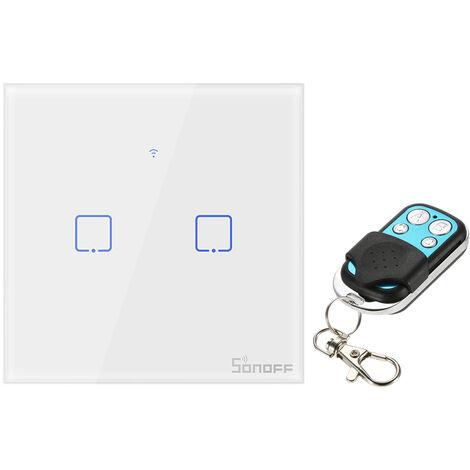 SONOFF, Interruptor de luz de pared WiFi, 433Mhz, 2 Gang, para Google Home / Nest y Alexa