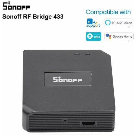 Sonoff Rf Pont Des Passerelles Wi-Fi A 433Mhz Telecommande Intelligente Commande Vocale Compatible Avec Goo-Gle Maison Et Amazon-Ale-Xa