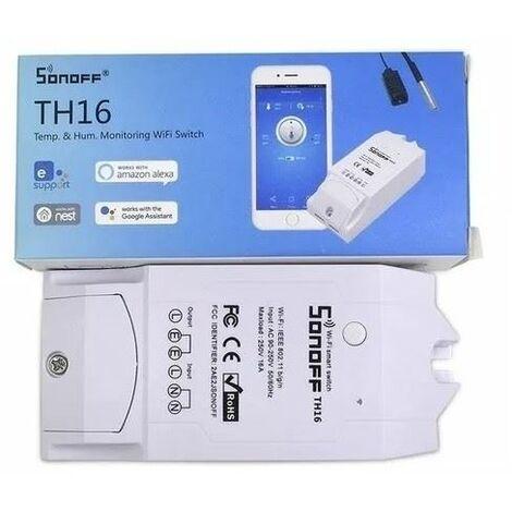 Sonoff TH16 WiFi - Conmutador inteligente para monitorización de temperatura y humedad