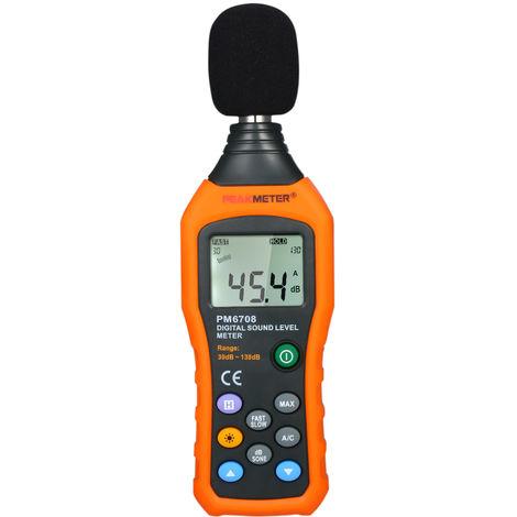 Sonometre Numerique, 30-130Db, Avec Ponderation De Frequence A Et C