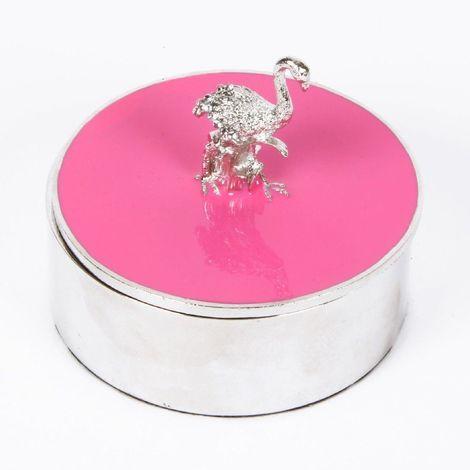 Sophia Pink Flamingo Trinket Box