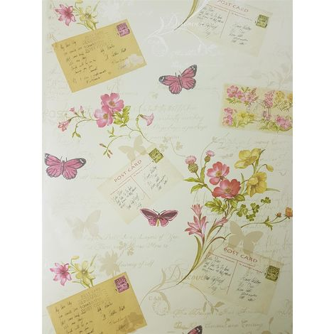 Sophie Conran Postcards Home Wallcoverings Rosa 950904