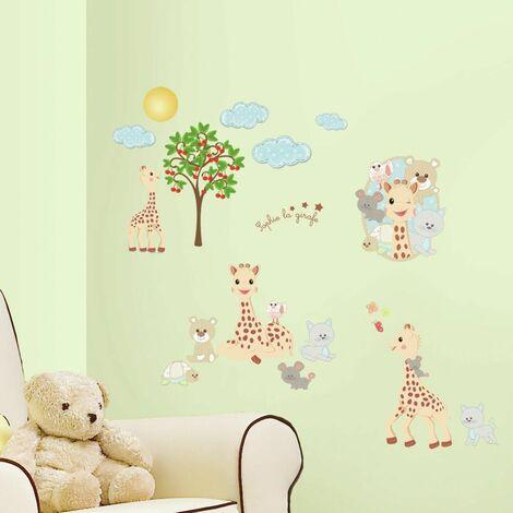 SOPHIE LA GIRAFE - Stickers repositionnables Sophie la Girafe - Multicolore