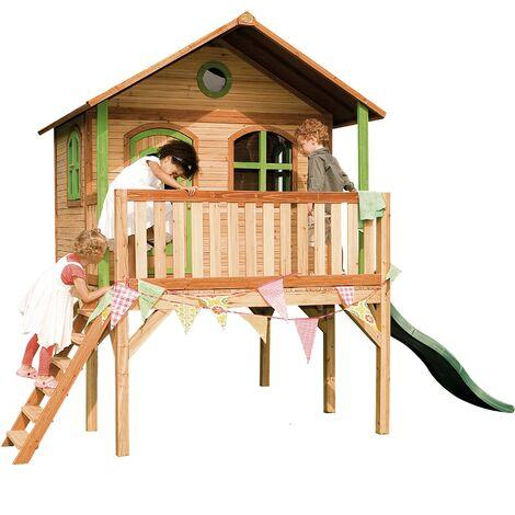Sophie Playhouse: Maisonnette pour enfants, fenêtres intégrées et bois très résistant