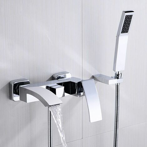 Sophisticated Wall Mounted Tub Faucet in Polished Chrome Faucet Only