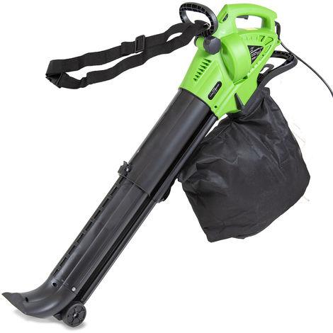 Soplador/aspirador colector de hojas para jardín 2000W