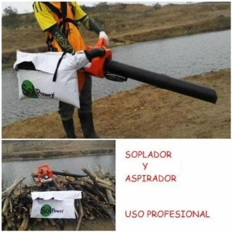 SOPLADOR ASPIRADOR SOLPOWER POTENTE DE USO PROFESIONAL 26CC