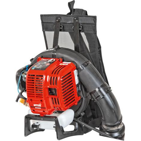 Soplador con mochila de gasolina MTD 240 km/h. Motor MT 32 BPB - 4T. 32 cc.