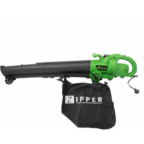 Soplador de hojas aspirador triturador ZIPPER ZI-SBH2600 2600W bolsa 50 litros