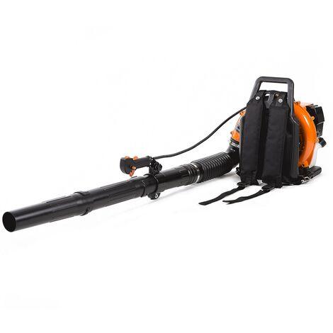 Soplador de hojas de mochila motor gasolina 85cc 5.4cv - GREENCUT
