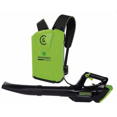 Soplador de mochila a batería Greenworks de 82 V GC82BLB (No incluye batería ni cargador)