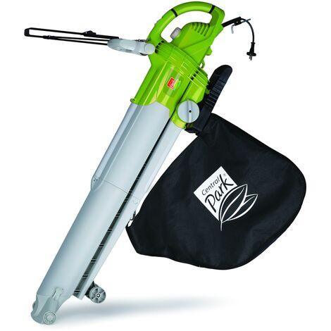 Soplador eléctrico Leaf, Central Park - 'CPE 3012 B / 2' - 3000W - 290 kmh velocidad de soplado - 50L capacidad de recogida - molinillo de vacío - Peso ligero - la movilidad óptima - Negro / verde