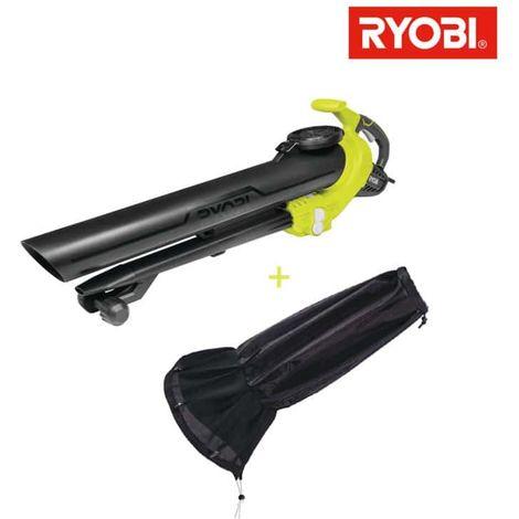 Soplador/triturador de vacío eléctrico RYOBI 3000W 3en1 RBV3000CESV - Colector universal de hojas RAC365