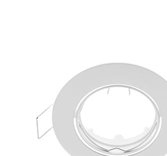 Soporte Ajustable Redonda Empotrada Blanco con Portalámparas GU5.3 ELMARK