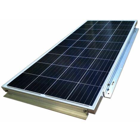 "main image of ""Soporte Aluminio para panel solar superficie plano"""