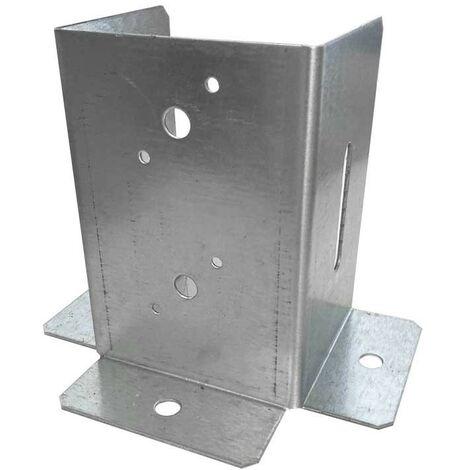 Soporte anclaje 3 CARAS de 10x10 cm. 1 und.
