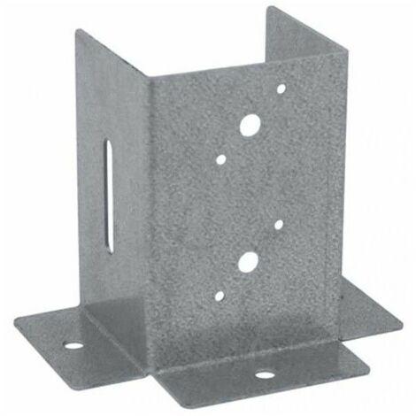 Soporte anclaje 3 CARAS de 9x9 cm. 1 und.