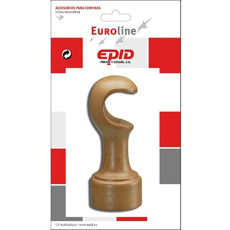 Soporte Barra Cortina Frontal 29Mm Natural Madera Epid 02294001