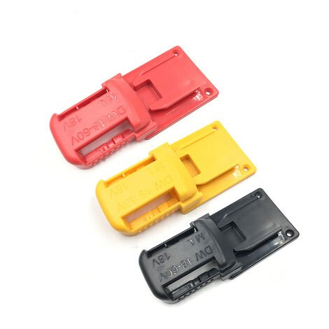 Soporte de almacenamiento para baterias de iones de litio, clip de bateria y soporte para base de herramientas electricas, un juego compatible con bateria y herramienta DeWalt de 20 V y Milwaukee de 18 V