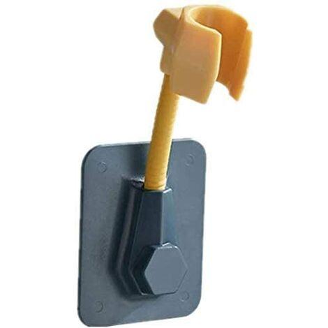 Soporte de ducha de mano LangRay, soporte de cabezal de ducha de montaje en pared ajustable, soporte de cabezal de ducha, soporte de pared adhesivo de plástico ABS sin soporte de taladro (verde)