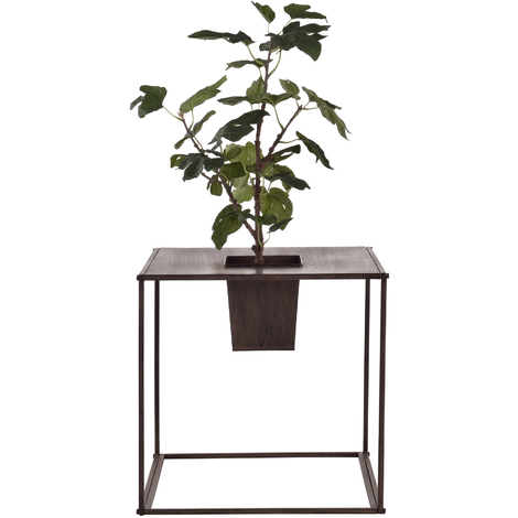 Soporte de flores - Macetero - con estilo, decorativo - Marrón oscuro - Metal - 46 x 45 x 45cm