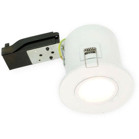 Soporte de foco fijo blanco BBC RT2012 portalámparas automático GU10