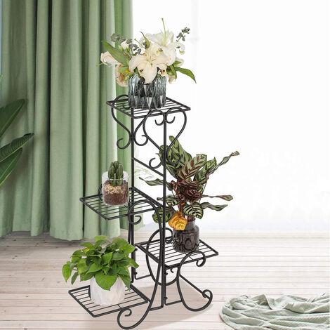 Soporte de maceta para plantas,Estante de metal ,Soporte de exhibición de flores para sala de estar, jardín 107x22x57cm