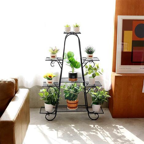 Soporte de maceta para plantas,Estante de metal ,Soporte de exhibición de flores para sala de estar, jardín 66x22x102cm