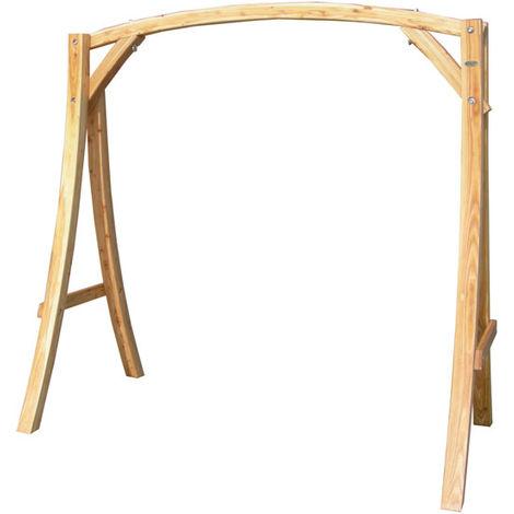 SOPORTE de madera de alerce para balancínes / columpios aprox 205x105x198cm   adecuado para el interior de la casa y el jardin   ASIENTO NO INCLUIDO