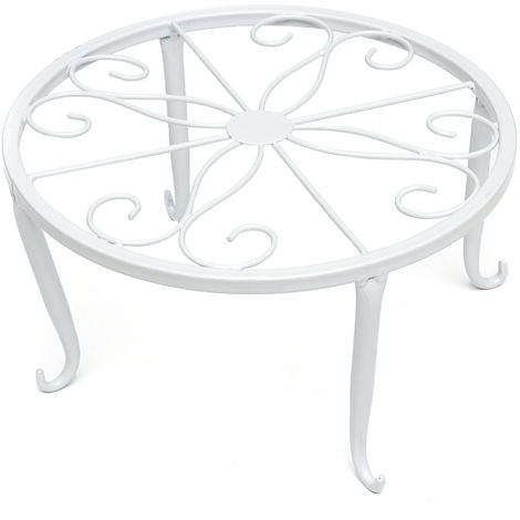 Soporte de metal moderno de 24 cm para decoración de mesa de jardín de maceta