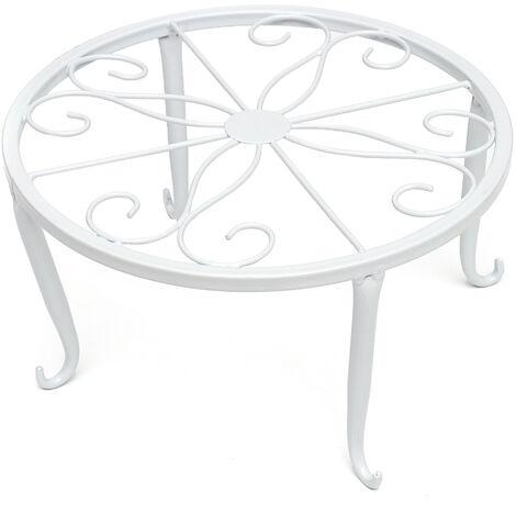 Soporte de metal moderno de 24 cm para decoración de macetas mesa de jardín blanco Mohoo