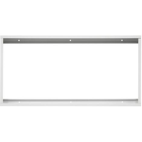 Soporte de montaje con superficie blanca para panel LED de 600x300 mm aluminio