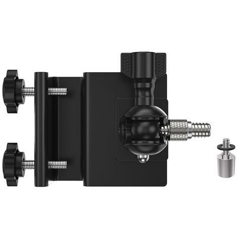 Soporte de montaje en canal, con tornillo adaptador M3, NEGRO