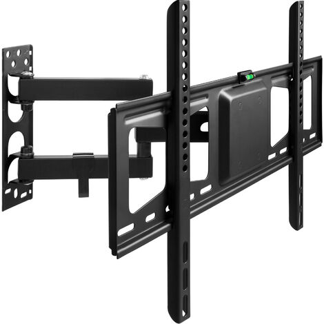 Soporte de pared para monitores de 32-60″ (81-152cm) inclinable y orientable - soporte para pantalla VESA, base para monitor plano de televisión de acero, soporte para monitores de ordenador - negro