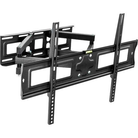 Soporte de pared para monitores de 32-65″ (81-165cm) inclinable y orientable - soporte para pantalla VESA, base para monitor plano de televisión de acero, soporte para monitores de ordenador - negro