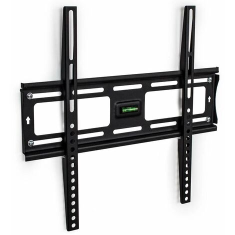 Soporte de pared para pantallas 23-55″ (58-140cm) fijo - soporte para pantalla VESA, base para monitor plano de televisión de acero, soporte para monitores de ordenador - negro