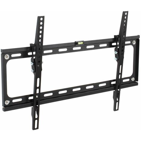 "Soporte de pared para pantallas de 32-65"" (81-165cm) inclinable nivel de aire - soporte para pantalla VESA, base para monitor plano de televisión de acero, soporte para monitores de ordenador - negro"