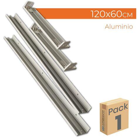 Soporte de superficie de aluminio para panel led 120x60cm